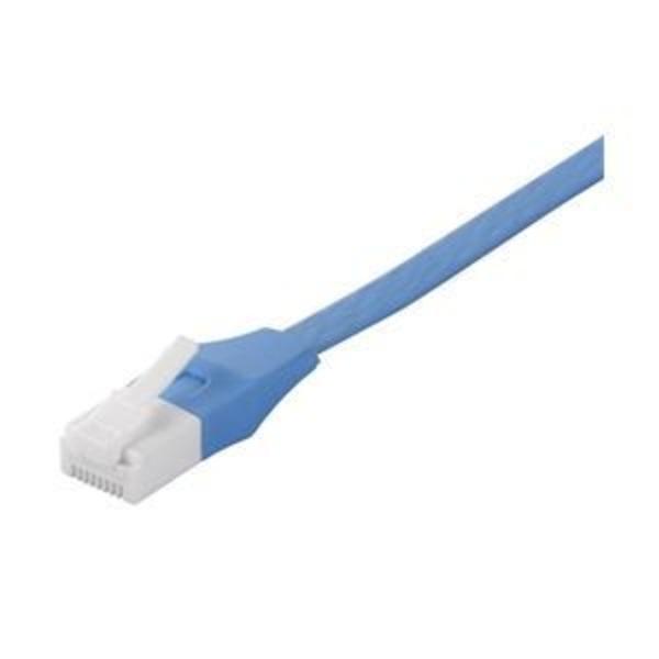 バッファロー(サプライ) ツメの折れないLANケーブル カテゴリー6 ストレート フラット 10m ブルー BSLS6FU100BL2