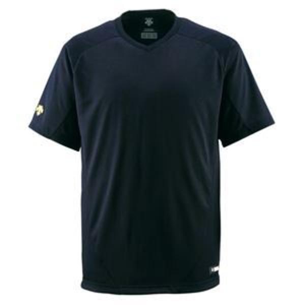 デサント(DESCENTE) ジュニアベースボールシャツ(Vネック) (野球) JDB202 ブラック 160