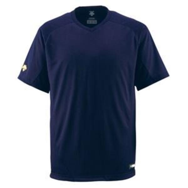 デサント(DESCENTE) ジュニアベースボールシャツ(Vネック) (野球) JDB202 Dネイビー 150
