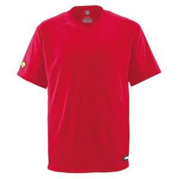 デサント(DESCENTE) ジュニアベースボールシャツ(Vネック) (野球) JDB202 レッド 140