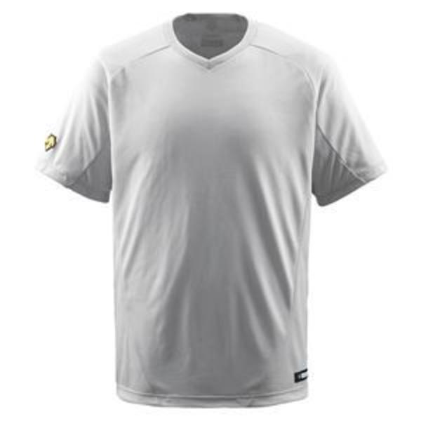 デサント(DESCENTE) ジュニアベースボールシャツ(Vネック) (野球) JDB202 シルバー 130