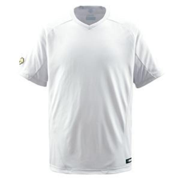 デサント(DESCENTE) ジュニアベースボールシャツ(Vネック) (野球) JDB202 Sホワイト 140