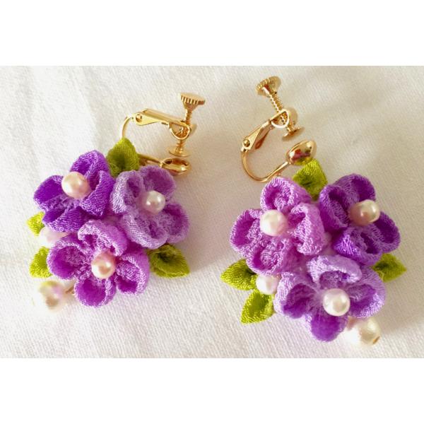 小花ブーケ・紫