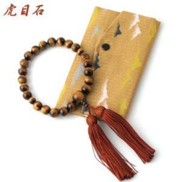 京都特選数珠【永観】虎目石略式念珠