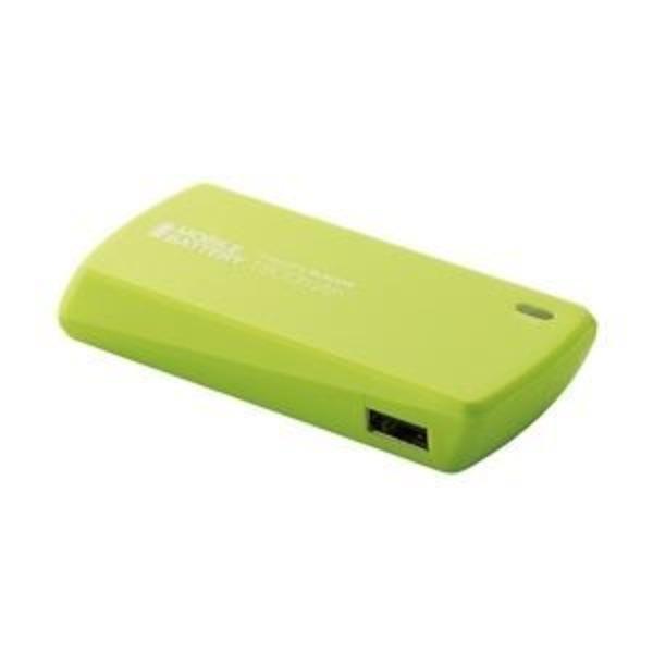 エレコム スマートフォン用モバイルバッテリー/USB Micro-Bメス-USBAメス/1800mAh/グリーン DE-U01L-1810GN