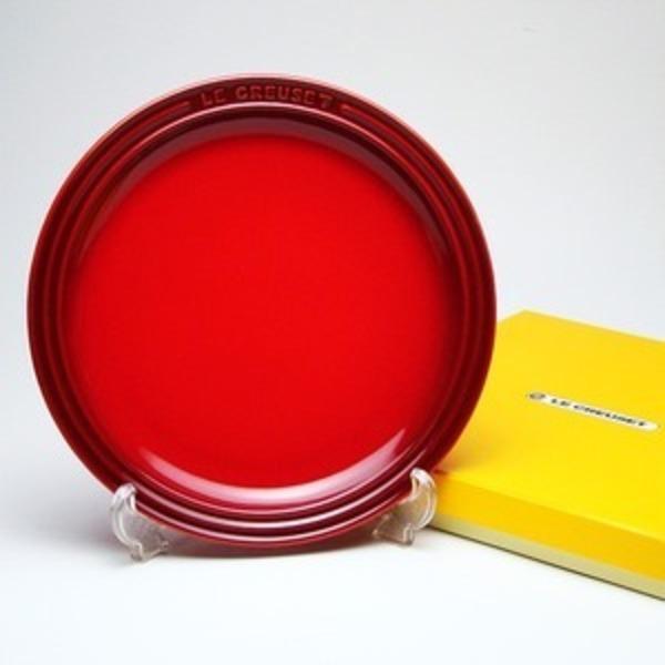 ル・クルーゼ (Le Creuset) ラウンドプレート・LC 23cm チェリーレッド