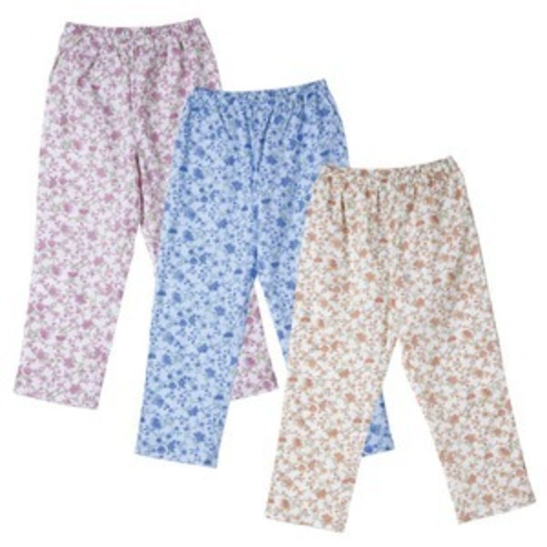 欲しかったパジャマの下 【3色組み/Lサイズ】 綿100% 腰部分ゴム入り