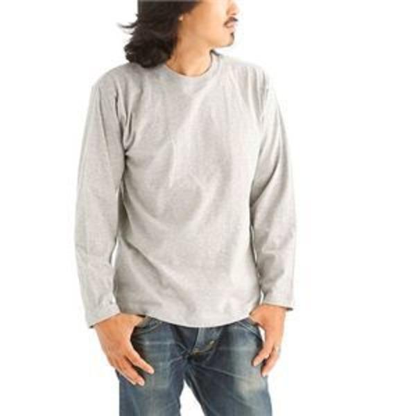 オープンエンドヤーンロングTシャツ2枚セット 杢グレー+杢グレー Mサイズ