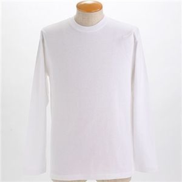 オープンエンドヤーンロングTシャツ2枚セット ホワイト+ホワイト Lサイズ