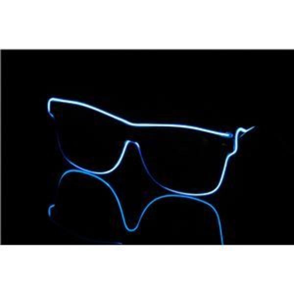 光るラインサングラス 【ブルー】 電池式 PC PVC素材 『ELEX エレクトリック イーエックス』 〔コスプレ イベント〕
