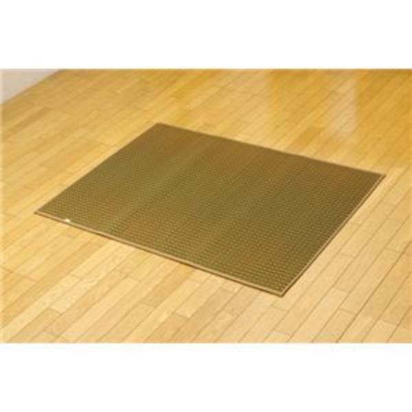 純国産 シンプルい草ラグカーペット『Fリブロ』 グリーン 190×190cm