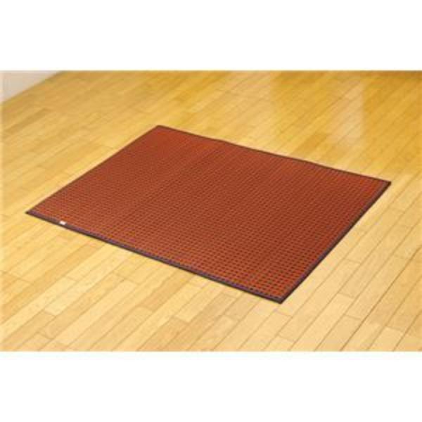 純国産 シンプルい草ラグカーペット『Fリブロ』 レッド 95×130cm