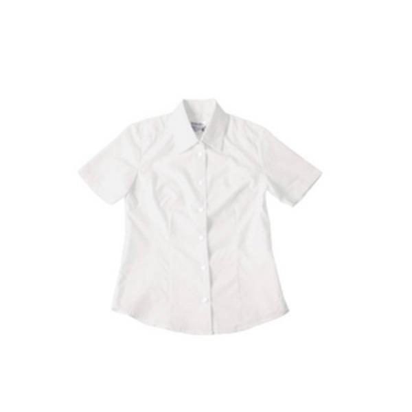 半袖シャツ 【ホワイト Mサイズ】 前ボタン式 綿 ポリエステル ドライクリーニング可