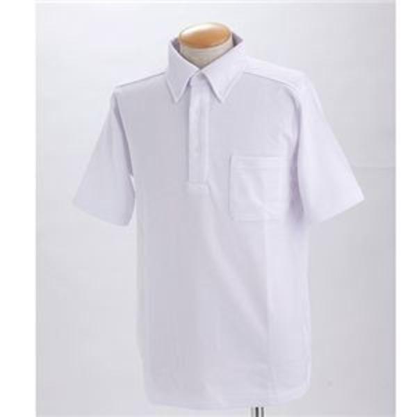 クールビズボタンダウンドライメッシュポロシャツ ホワイト 3L