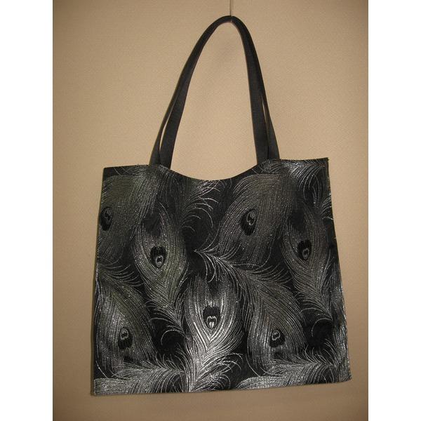 「ふじやま織り」手提げバッグ 孔雀