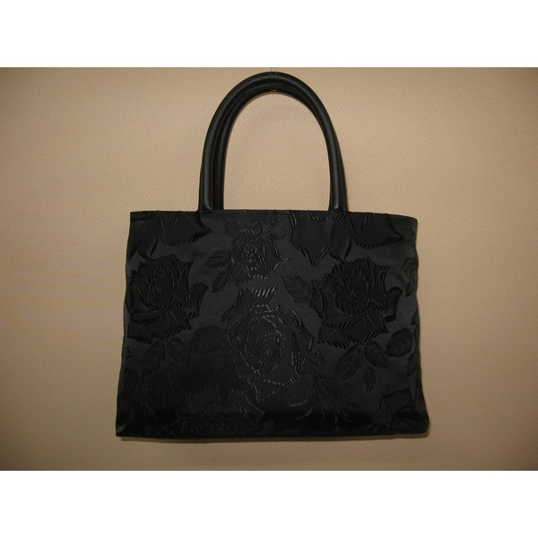 「ふじやま織り」ハンドバッグ バラ