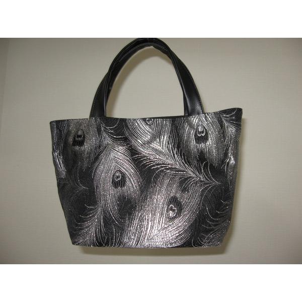 「ふじやま織り」手提げバッグ ミニ 孔雀