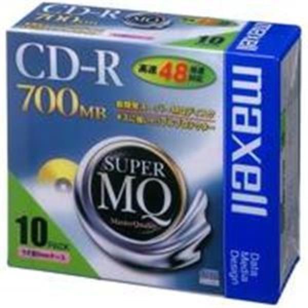 (業務用5セット)日立マクセル HITACHI CD-R <700MB> CDR700S.1P10S 10枚