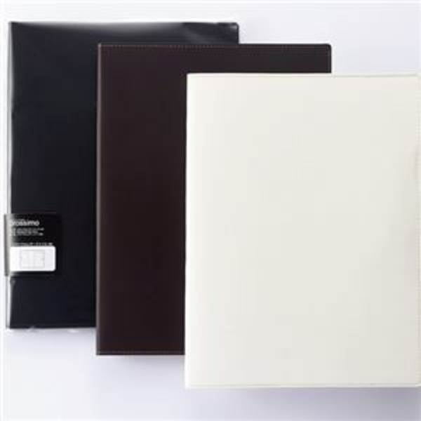 (まとめ) プロッシモ リサイクルレザーファイル A4 背幅15mm ホワイト PRORLFA4WH 1冊 【×2セット】
