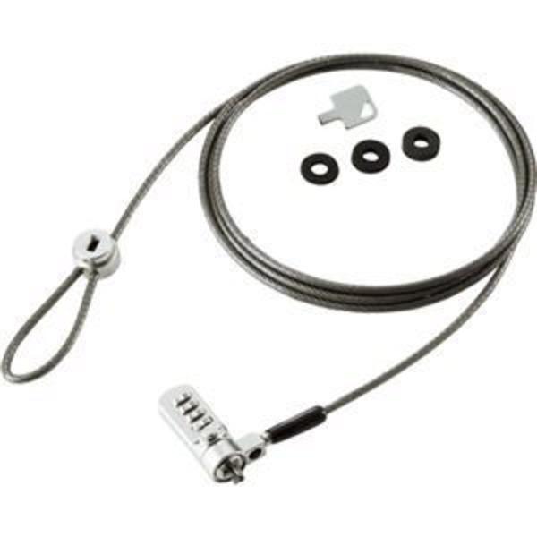 (まとめ) 明晃化成工業 ダイヤル錠ワイヤーロック KWL92-A 1パック 【×5セット】