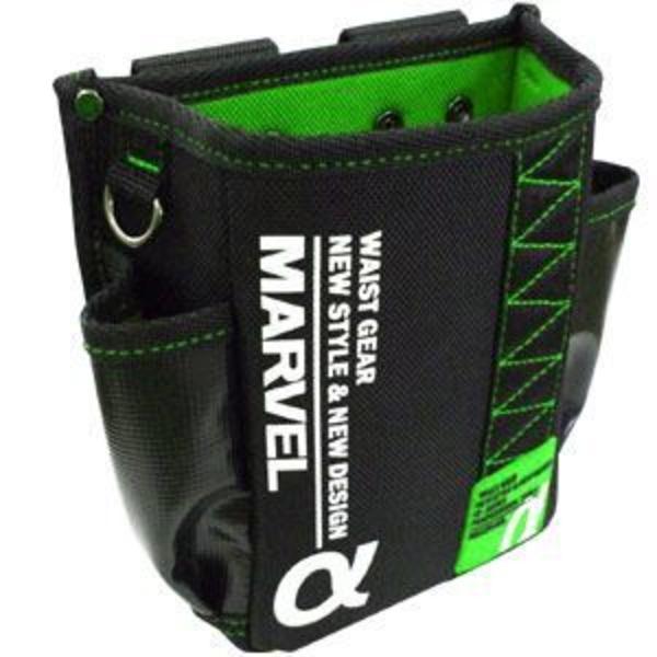 (まとめ)電工ポケット WAIST GEAR 【腰袋スリムタイプ×2セット】 グリーン(緑) マーベル MDP-91AG