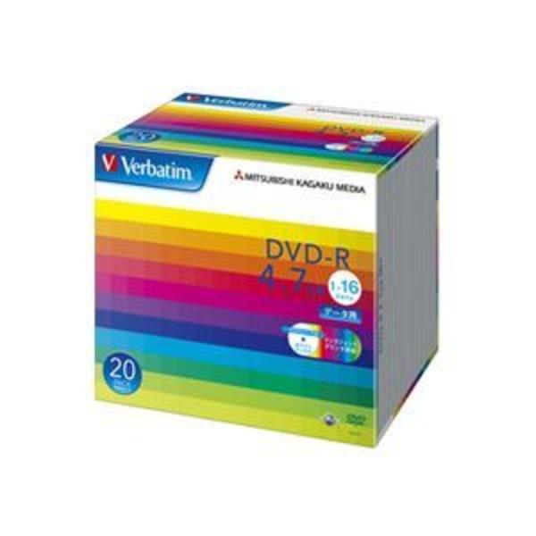 (まとめ) バーベイタム データ用DVD-R 4.7GB ワイドプリンターブル 5mmスリムケース DHR47JP20V1 1パック(20枚) 【×3セット】