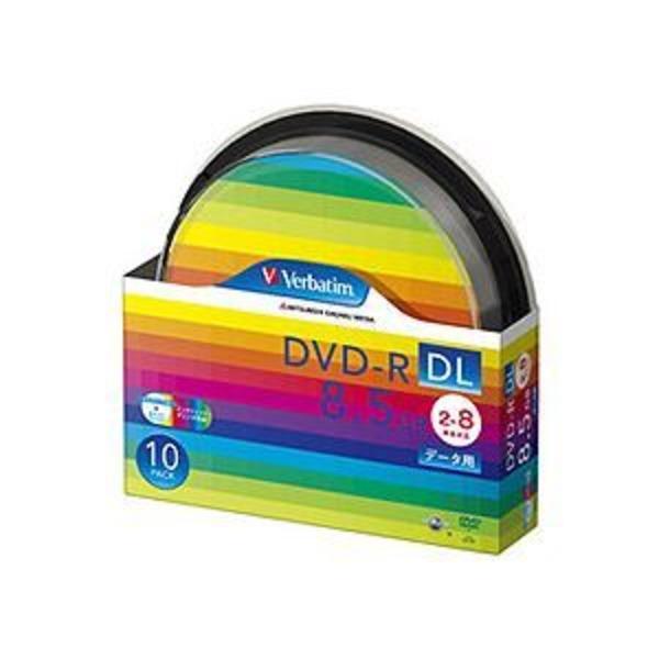 (まとめ) バーベイタム データ用DVD-R DL 8.5GB ワイドプリンターブル スピンドルケース DHR85HP10SV1 1パック(10枚) 【×2セット】
