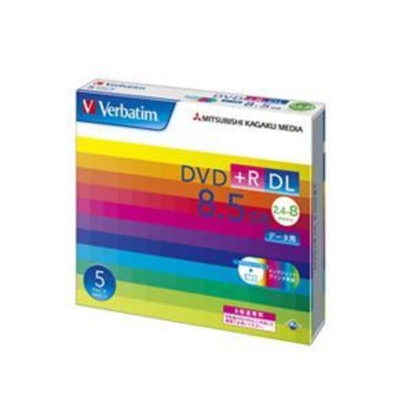 (まとめ) バーベイタム データ用DVD+R DL 8.5GB 8倍速 ワイドプリンターブル 5mmスリムケース DTR85HP5V1 1パック(5枚) 【×3セット】