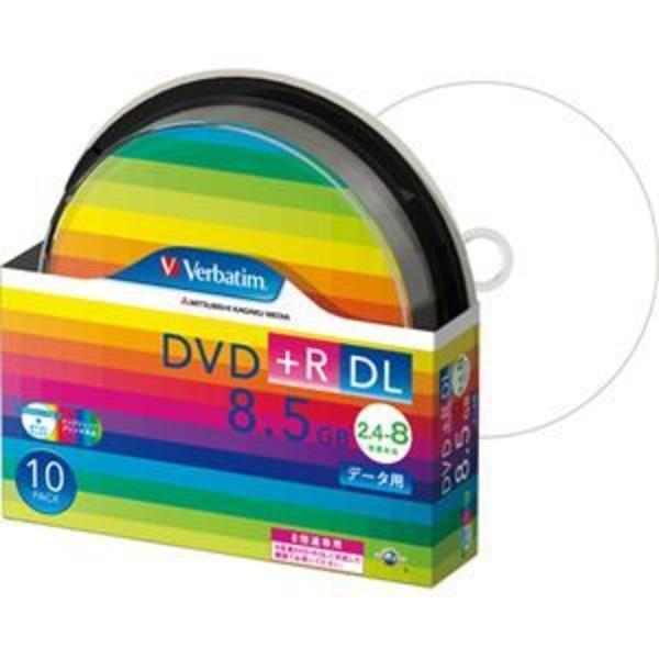 (まとめ) バーベイタム データ用DVD+R DL 8.5GB 8倍速 ワイドプリンターブル スピンドルケース DTR85HP10SV1 1パック(10枚) 【×2セット】