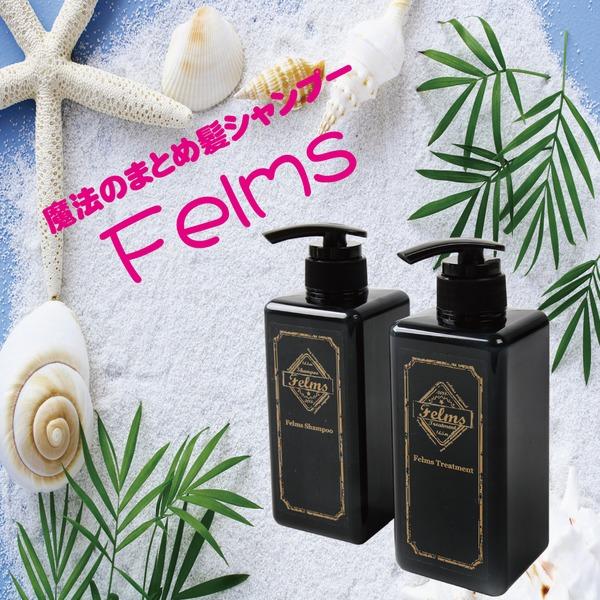【魔法のまとめ髪シャンプー】 Felmsシャンプー&トリートメントセット 香り プルメリア