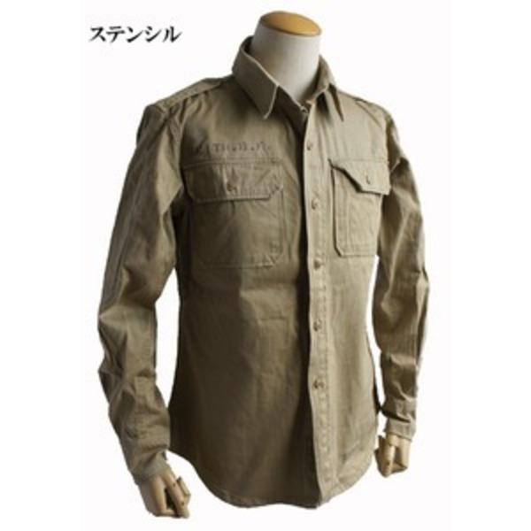 USタイプ M46 コットンカーキシャツ ワンウォッシュ ステンシル S 【 レプリカ 】