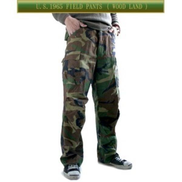 USタイプ「 M-65」フィールドパンツ PP062YN ウッドランド メンズ Sサイズ 【 レプリカ 】