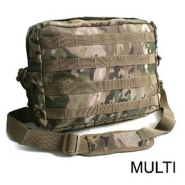 アメリカ軍 2WAYショルダーバッグ/鞄【モール/A4対応】 ナイロンキャンバス地 防水加工 BS076YN マルチカモ【レプリカ】