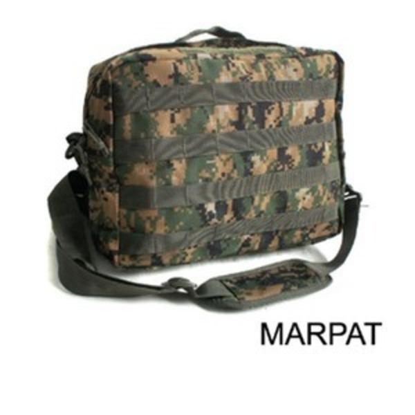 アメリカ軍 2WAYショルダーバッグ/鞄【モール/A4対応】 ナイロンキャンバス地 防水加工 BS076YN MARPATウッド【レプリカ】