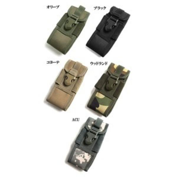 アメリカ軍 スマートフォンポーチ(携帯ポーチ) モール対応 防水加工 BP073YN コヨーテ ブラウン 【 レプリカ 】