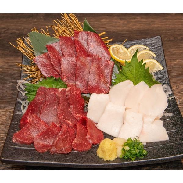 熊本県馬肉三種セット(赤身・ヒレ・タテガミ・各100g)馬刺専用特選醤油付き