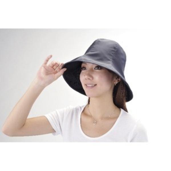 超軽量UVカット撥水帽子 ブラック