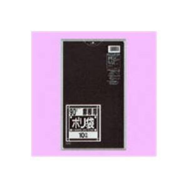 (業務用10セット)日本サニパック ポリゴミ袋 N-92 黒 90L 10枚
