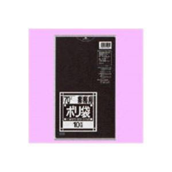 (業務用10セット)日本サニパック ポリゴミ袋 N-72 黒 70L 10枚