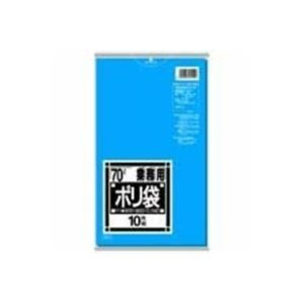 (業務用10セット)日本サニパック ポリゴミ袋 N-71 青 70L 10枚