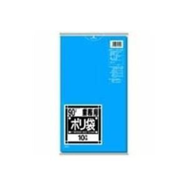 (業務用10セット)日本サニパック ポリゴミ袋 N-91 青 90L 10枚