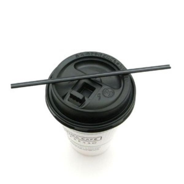 ホットコーヒー用マドラーストロー/15cmブラックカラー 1000本入り