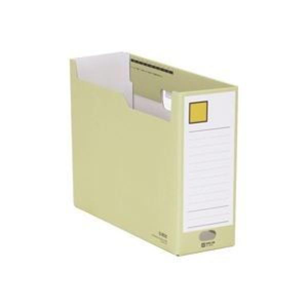 (業務用10セット) キングジム Gボックス/ファイルボックス 【A4/ヨコ型】 段ボール製 収納幅:100mm 4033 黄