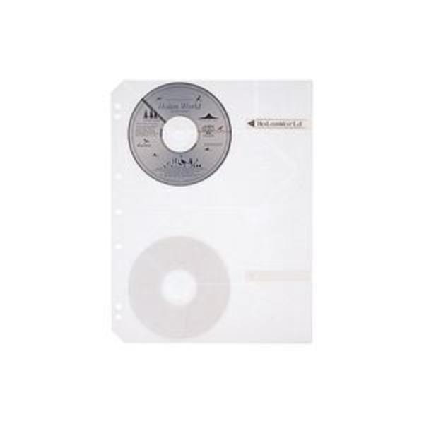 (業務用5セット)プラス CD/DVD追加用替ポケット RE-141CD 5枚