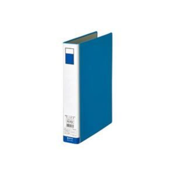 (業務用10セット)ジョインテックス パイプ式ファイル両開き青1冊 D053J-BL