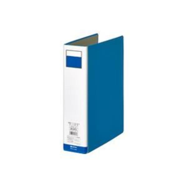 (業務用10セット)ジョインテックス パイプ式ファイル両開き青1冊 D055J-BL