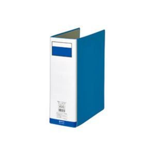 (業務用7セット)ジョインテックス パイプ式ファイル両開き青1冊 D058J-BL ×7セット