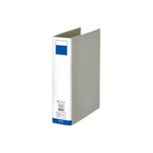 (業務用10セット)ジョインテックス パイプ式ファイル両開き灰1冊 D055J-DG