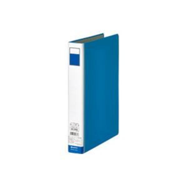 (業務用10セット)ジョインテックス 片開きパイプ式ファイル D003J-BL 青1冊