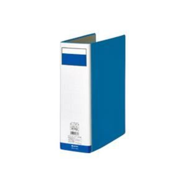 (業務用7セット)ジョインテックス 片開きパイプ式ファイル D008J-BL 青1冊 ×7セット